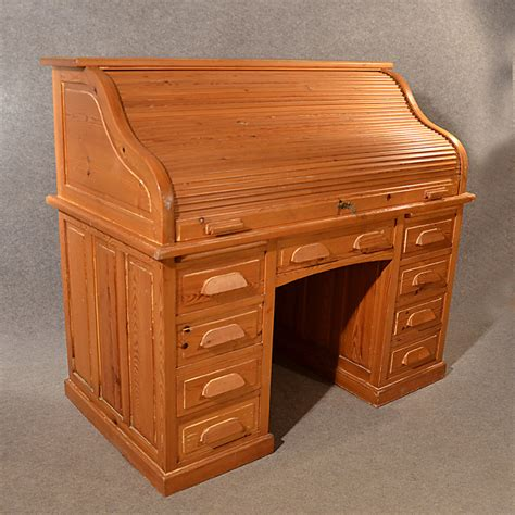 bureau tp antique rolltop bureau pine roll top tambour desk