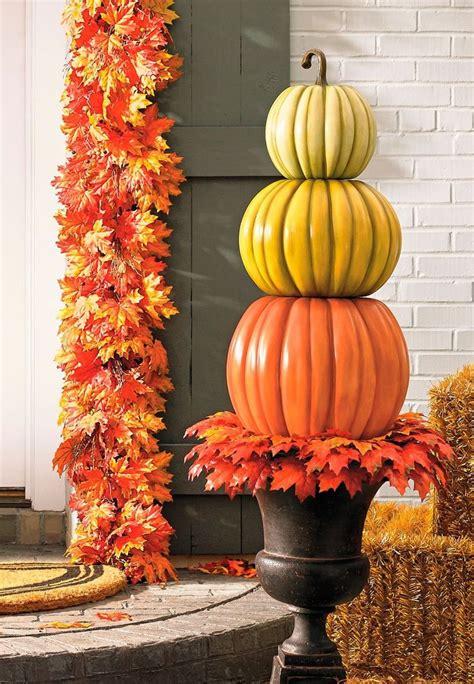 Three-stack Pumpkin Topiary   Grandin Road   Stacked ...