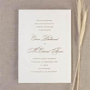 simple elegant embossed wedding day invitation cartalia With classic wedding invitations canada