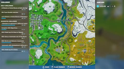 fortnite bus chapter locations stop overtime challenge visit guide map location