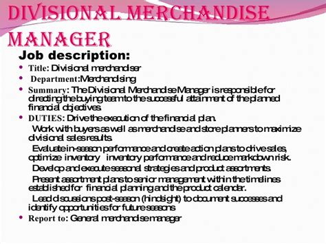 Job Analysis In Retail Sector