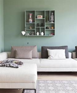 Peinture À L Eau Murale : plus de 70 exemples d co pour adopter l ind modable vert c ladon dans son int rieur obsigen ~ Melissatoandfro.com Idées de Décoration