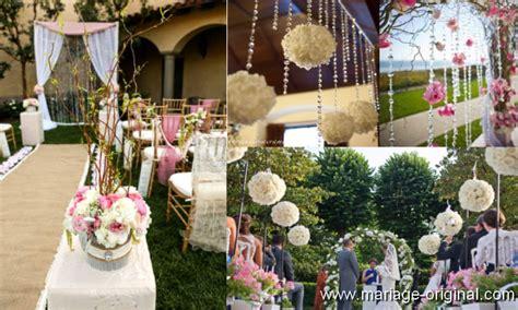 idees de decorations de mariage en jute  dentelle