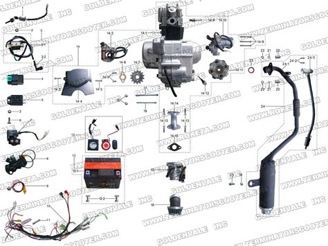 Gas Scooter Wiring Diagram Parts Images