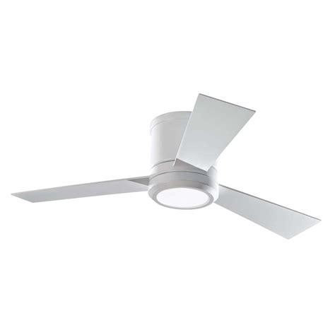42 white ceiling fan with light shop monte carlo fan company clarity 42 in rubberized