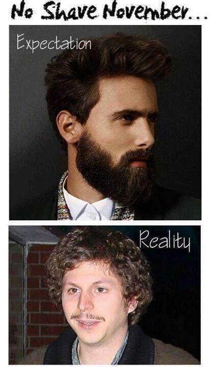 Movember Meme - movember expectations vs reality the poke