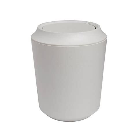Bad Abfalleimer Design by Umbra Fiboo Bathroom Waste Bin White Linen Black By Design