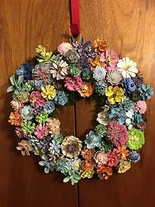 Pinecone, Wreath, In, Pastel, Crafts