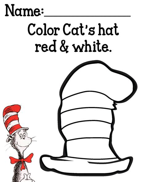 cat   hat coloring pages getcoloringpagescom