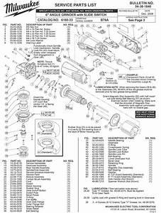 Milwaukee 6160-33 B76a Parts
