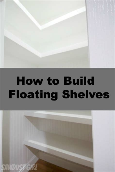 how to build floating shelves in a small closet some