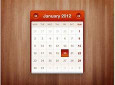 Little calendar widget PSD file Free Download