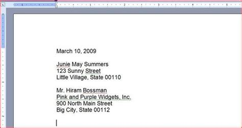 How To Type Your Address On A Resume by How To Type A Letter For An Request Ehow