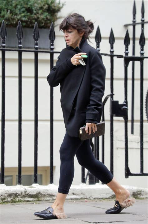 Claudia Winkleman Without Make Up - Central London 08/02/2017