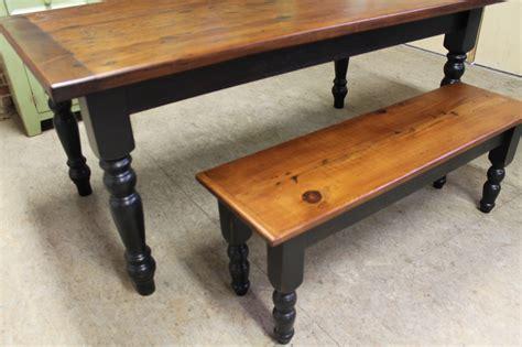 farmhouse table with bench rustic farm table