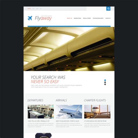 Ticket Template Monster by Airline Tickets Responsive Templates Templatemonster