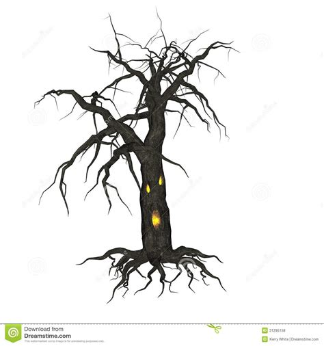 krw creepy tree stock illustration illustration  sppoky