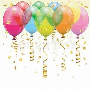 Birthday Balloons Stock Vector Colourbox