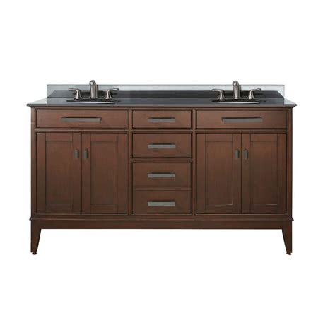 60 inch double sink vanity top avanity madison 60 inch w double sink vanity in tobacco
