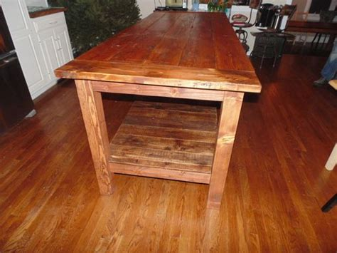 kitchen island made from reclaimed wood crafted reclaimed wood farmhouse kitchen island by