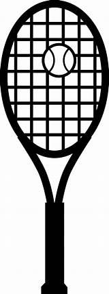 Tennis Racket Ball Clipart Line Coloring Vector sketch template