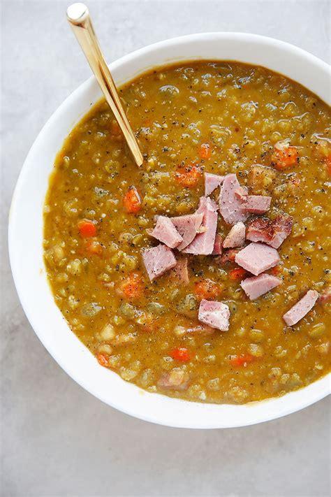 lexis clean kitchen split pea soup  ham