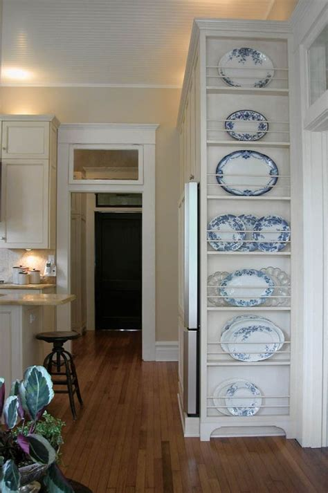diy kitchen adding inexpensive storage  inspiration   plate rack wall   carli