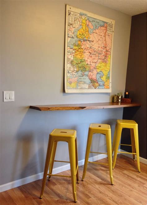wall mounted bar table floating breakfast bar wall mounted breakfast bar