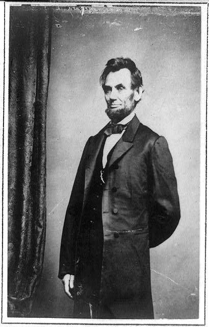 [Three-quarter length portrait of Presidenet Abraham ...