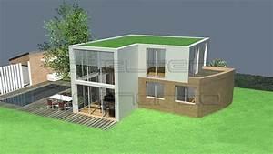 maison avec terrasse sur le toit avie home With plan de maison moderne 4 maison contemporaine rouvre etec