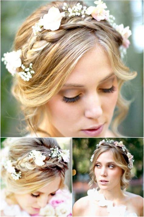 A Romantic Bohemian Wedding Hairstyle Weddbook
