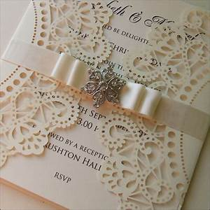lace doily effect lasercut wedding invitation With laser cut wedding invitations uk vintage lace