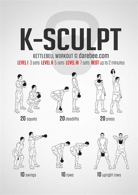 kettlebell workout darebee sculpt jun am