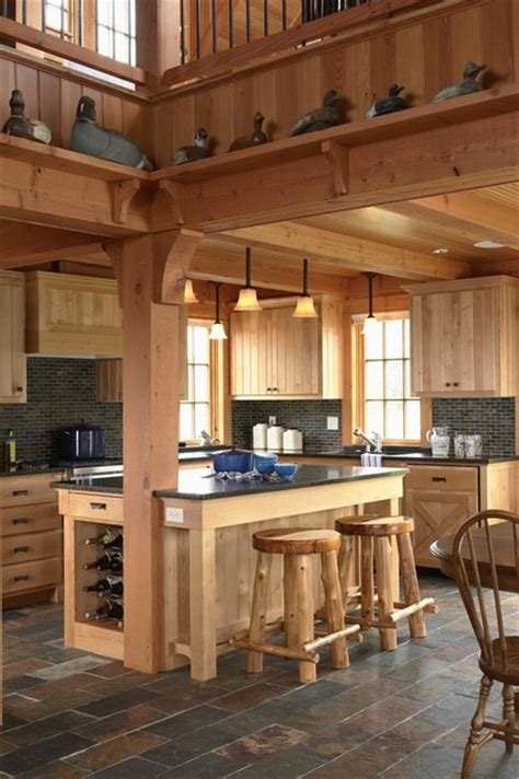 cuisine uip studio otter lodge rustic kitchen minneapolis