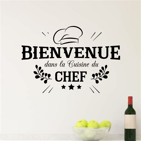 citations cuisine sticker bienvenue cuisine du chef stickers cuisine