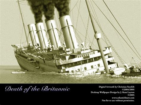 sinking of the britannic 17 best images about the titanic and on
