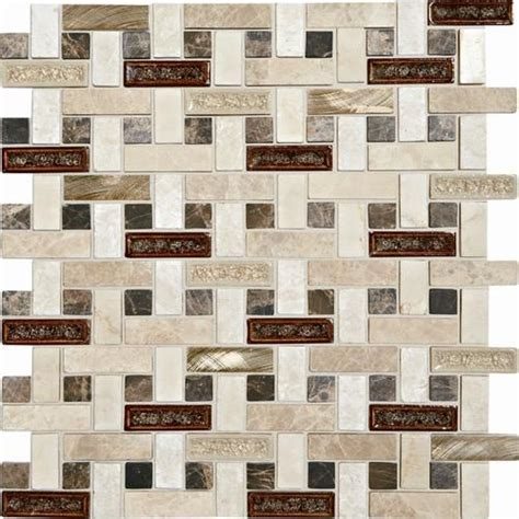 Mosaic Tile Backsplash Menards by Mohawk Phase Mosaics And Glass Wall Tile 5 8 Quot X 2