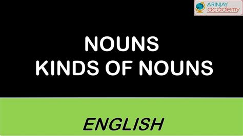 nouns kinds  noun youtube