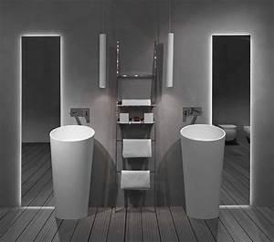 Salle De Bain Contemporaine : furniture fashionfuturistic bathroom circle smooth ~ Dailycaller-alerts.com Idées de Décoration