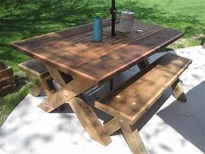 top 25 ideas about barn wood furniture ideas on pinterest With barn wood patio table