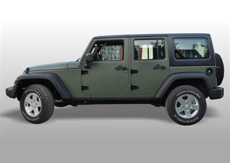 jeep wrangler military style classic army green jeep wrangler by chrysler at kraków
