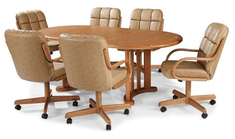 dining table with rolling chairs dining room extraodinary dining table with rolling chairs