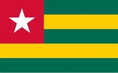 Togo Flag Drapeau Togolese Republiek Vlag Flagge
