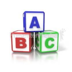 ABC Building Blocks Clip Art