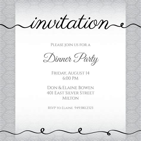 Dinner Gathering Invitation Dalep midnightpig co in Free