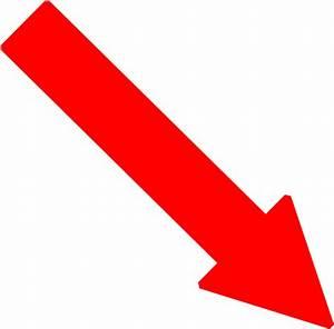 Red Right Down Arrow Clip Art at Clker.com - vector clip ...