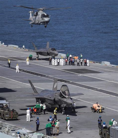 the royal f royal navy returns to the strike carrier business with f 35b landing newfoxy