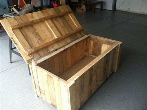 diy wooden pallet storage box plans pallet wood projects