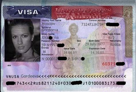 Sample Immigrant Visa