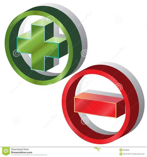Positive Negative Stock Vector Image Of Circular, Design 8559052